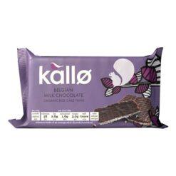 Ρυζoγκοφρέτες με Σοκολάτα Γάλακτος Βελγίου Kallo Χωρίς Γλουτένη glutenfree κοιλιοκάκη celiacshop.gr