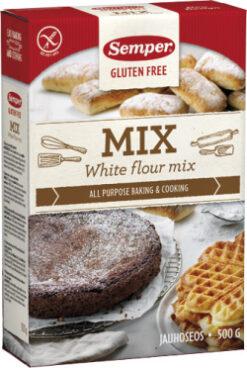 Μείγμα για Αρτοποιήματα White Mix Semper Χωρίς Γλουτένη glutenfree κοιλιοκάκη celiacshop.gr