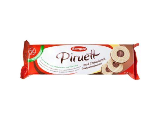 Μπισκότα Piruette με κρέμα Σοκολάτας Semper Χωρίς Γλουτένη glutenfree κοιλιοκάκη celiacshop.gr