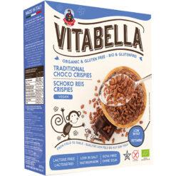 Vitabella Tραγανοί κόκκοι Ρυζιού με Κακάο Χωρίς Γλουτένη glutenfree κοιλιοκάκη celiacshop.gr