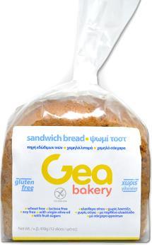 Gea Bakery ψωμί Tost 450g Gluten Free για άτομα με Κοιλιοκάκη Celiacshop.gr