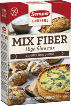 Mix Fiber Semper Μείγμα Ολικής για Αρτοποιήματα Χωρίς Γλουτένη glutenfree κοιλιοκάκη celiacshop.gr