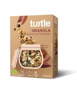 Turtle Γκρανόλα Καρύδι & Σοκολάτα Χωρίς Γλουτένη glutenfree κοιλιοκάκη celiacshop.gr