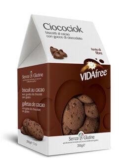 Μπισκότα Κακάο με σταγόνες Σοκολάτας Vida Free Χωρίς Γλουτένη glutenfree κοιλιοκάκη celiacshop.gr