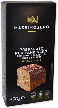 Έτοιμο μείγμα για μαύρο Ψωμί Massimo Zero χωρίς γλουτένη Www.celiacshop.gr