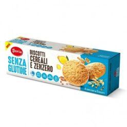 Μπισκότα Δημητριακών & Τζίντζερ Doria χωρίς γλουτένη Www.celiacshop.gr