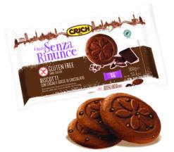 Μπισκότα Κακάο με κομμάτια Σοκολάτας Crich χωρίς γλουτένη Www.celiacshop.gr